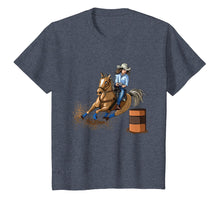 Load image into Gallery viewer, Barrel Racing Horse T Shirt Country Western Womens Girls Kid