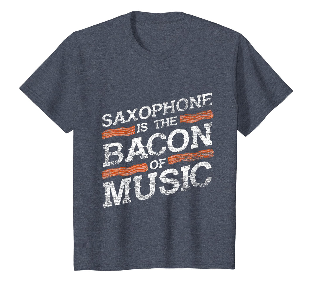 Saxophone T-Shirt - Bacon Of Music - Saxophonist Shirts Gift