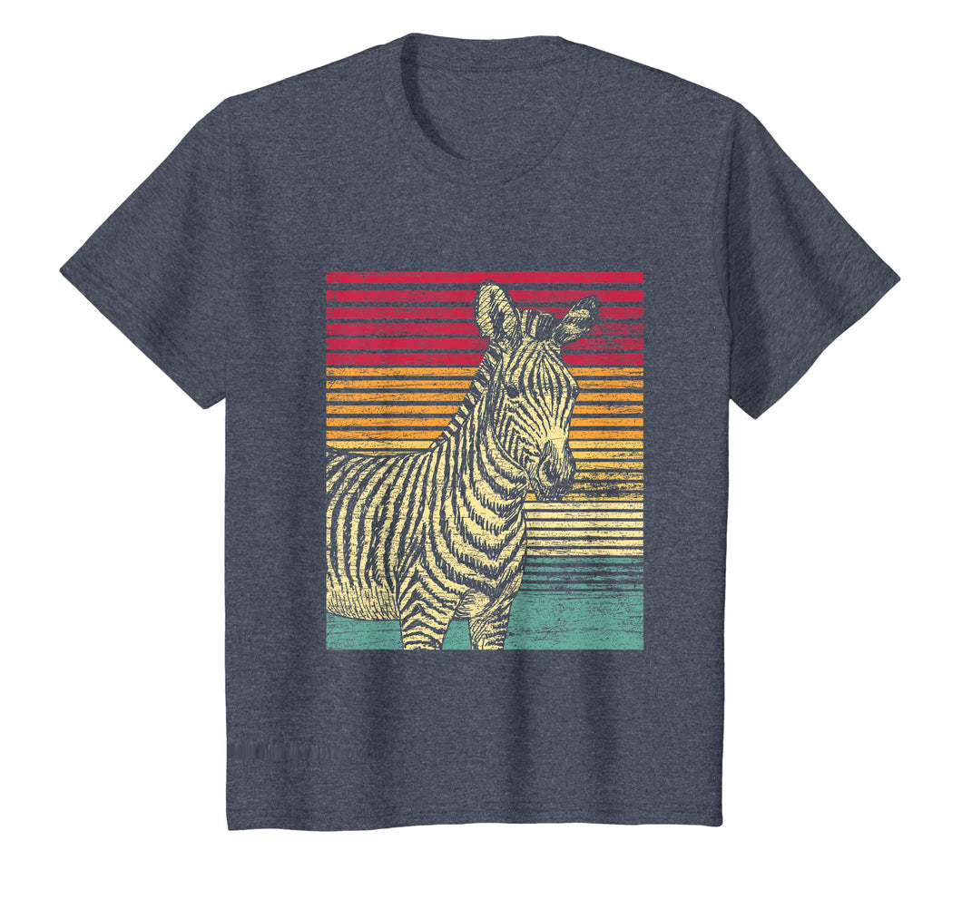 Retro Zebra T-Shirt Men Boys Women Girls