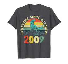 Load image into Gallery viewer, Dinosaur 10th Birthday Boy Gift, Awesome Since October 2009 T-Shirt
