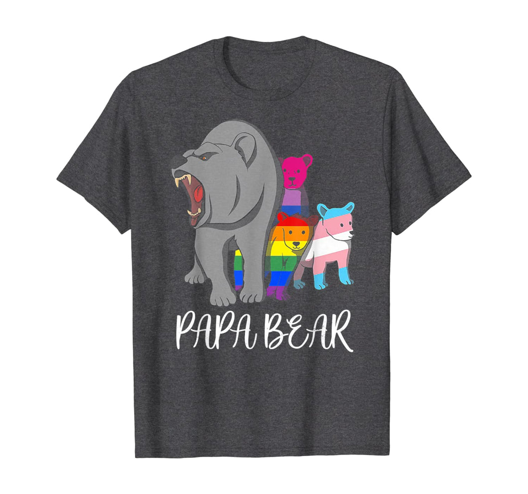 Papa Bear Lgbt Pride Father's Day Gift T-Shirt