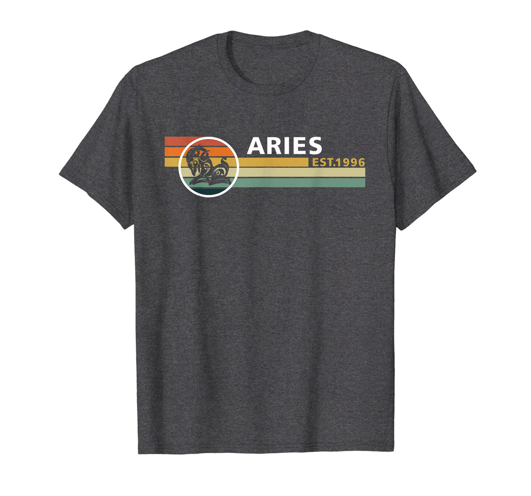 Aries Vintage Est 1996 Tshirt April 23rd Birthday Gifts