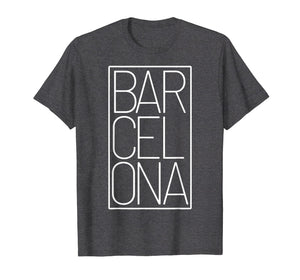Barcelona t-shirt Souvenir visiting Catalonia Spain Europe