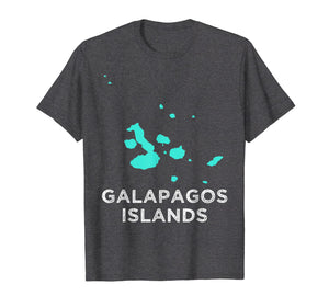 Galapagos Islands map tourism t-shirt for men, women & kids