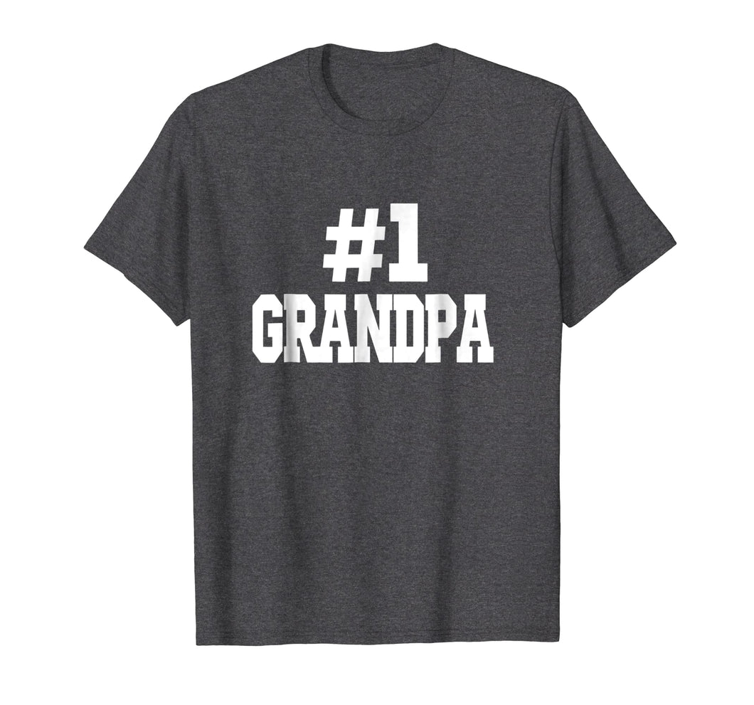Mens #1 Grandpa T-Shirt. Number one grandpa T-Shirt