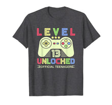 Load image into Gallery viewer, 13th Birthday T Shirt - Level 13 Unlocked, Official Teenager
