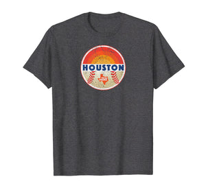 Cool Houston Texas Strong Baseball Vintage Graphic T-Shirt