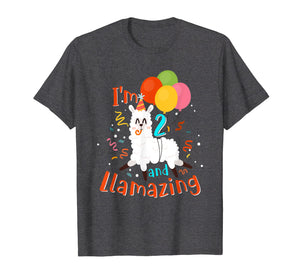Amazing 2nd Birthday Llama Shirt I'm 2 and Llamazing Shirt