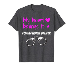 Correctional Officer Wife T Shirt Corrections Girlfriend Tee