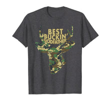 Load image into Gallery viewer, Best Buckin' Godfather T-Shirt Funny Deer Hunter Tee Gifts