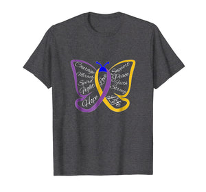 Fight Bladder Cancer Awareness Butterfly Shirt for Men Women
