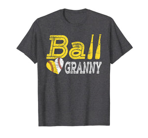 Baseball Softball Ball Heart Granny Shirt Mother's Day Gifts