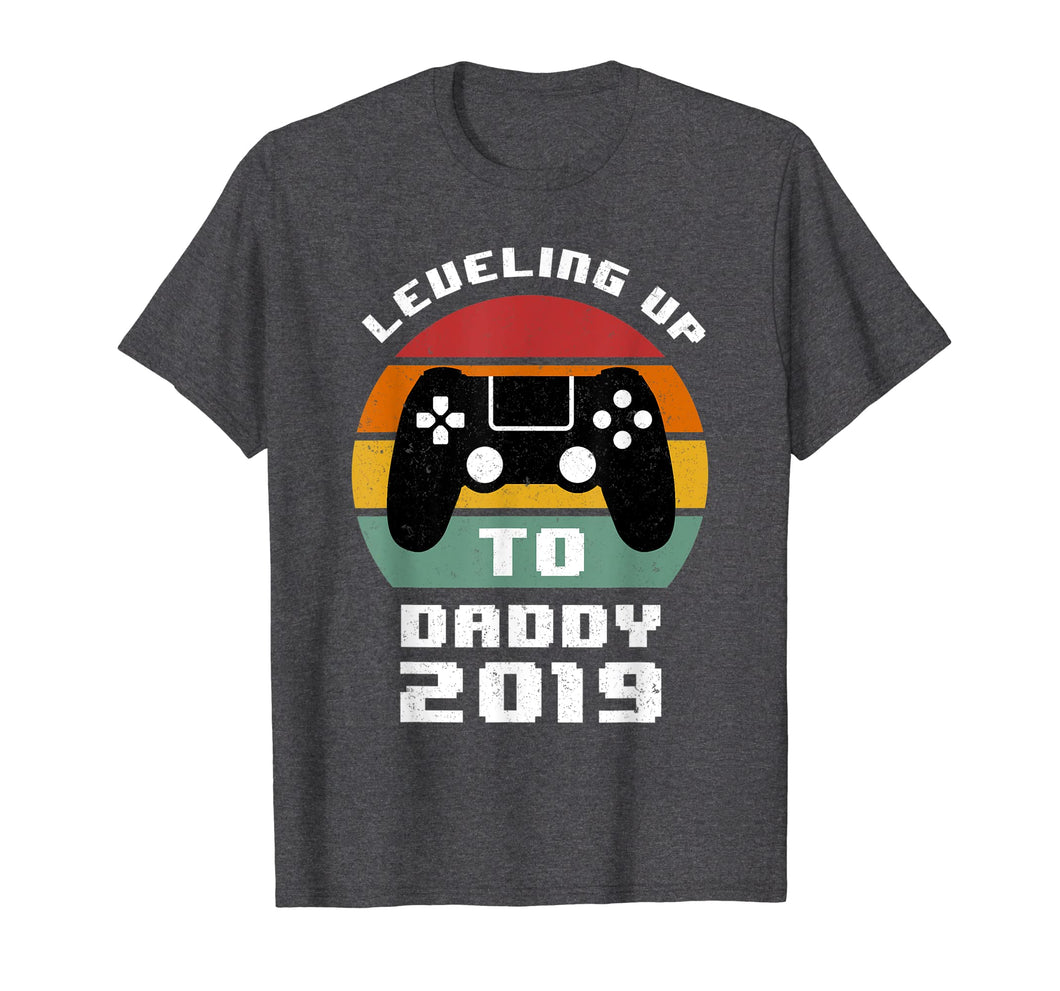 Promoted To daddy Shirts Leveling up to daddy 2019