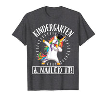 Load image into Gallery viewer, Light Unicorn Senior Dabbing Kindergarten & Nailed It Shirt
