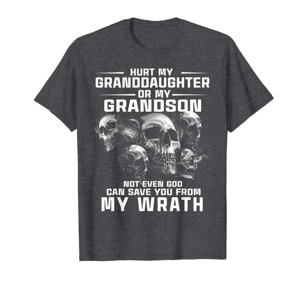 Hurt My Granddaughter or My Grandson T-Shirt gift