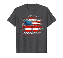 Load image into Gallery viewer, Retro Vintage Patriotic US Flag Dragonfly Tshirt Gifts