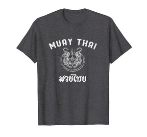 Muay Thai Twin Tiger Kickboxing MMA Gift T-Shirt - White