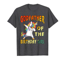 Load image into Gallery viewer, 2018-Men-Women- GODFATHER of the Unicorn Birthday Girl T-Shi