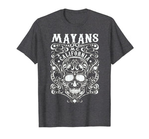 Mayan MC Apparel Vintage T Shirt Limited White Skull Anarchy