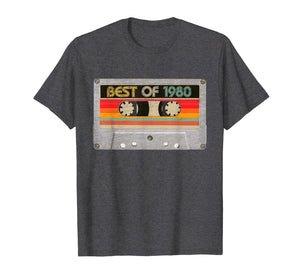 Best Of 1980 40th Birthday Gifts Cassette Tape Vintage T-Shirt-87736