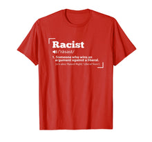 Load image into Gallery viewer, Republican Racist Definition Anti Liberal T-Shirt