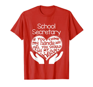 School Secretary Clerk Office T shirt Heart Group Gift