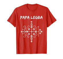 Load image into Gallery viewer, Papa Legba Gate Keeper Lwa Veve Voodoo Magic T-shirt