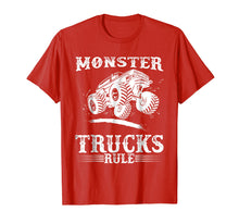 Load image into Gallery viewer, Monster Trucks Rule T-Shirt - Monster Truck Jumping Shirt
