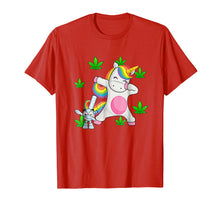 Load image into Gallery viewer, Dab Unicorn With A Bong Gifts Tee T Shirt