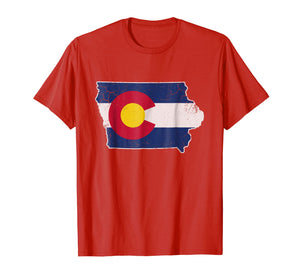 Colorado Flag Iowa Transplant T-Shirt