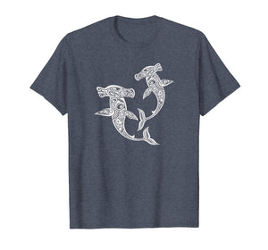 Shirt Hammerhead Shark Polynesian Art Maori Hawaii Tropical