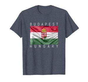 Budapest T-Shirt Flag of Hungary with Coat of Arms Souvenir