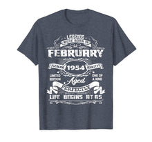 Load image into Gallery viewer, Legends Were Born In february 1954 T-Shirt, 65th Birthday