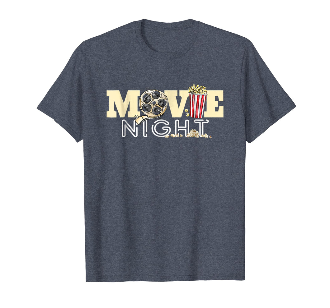 Movie Night T-Shirt Family Movie Night Shirts Popcorn Tees