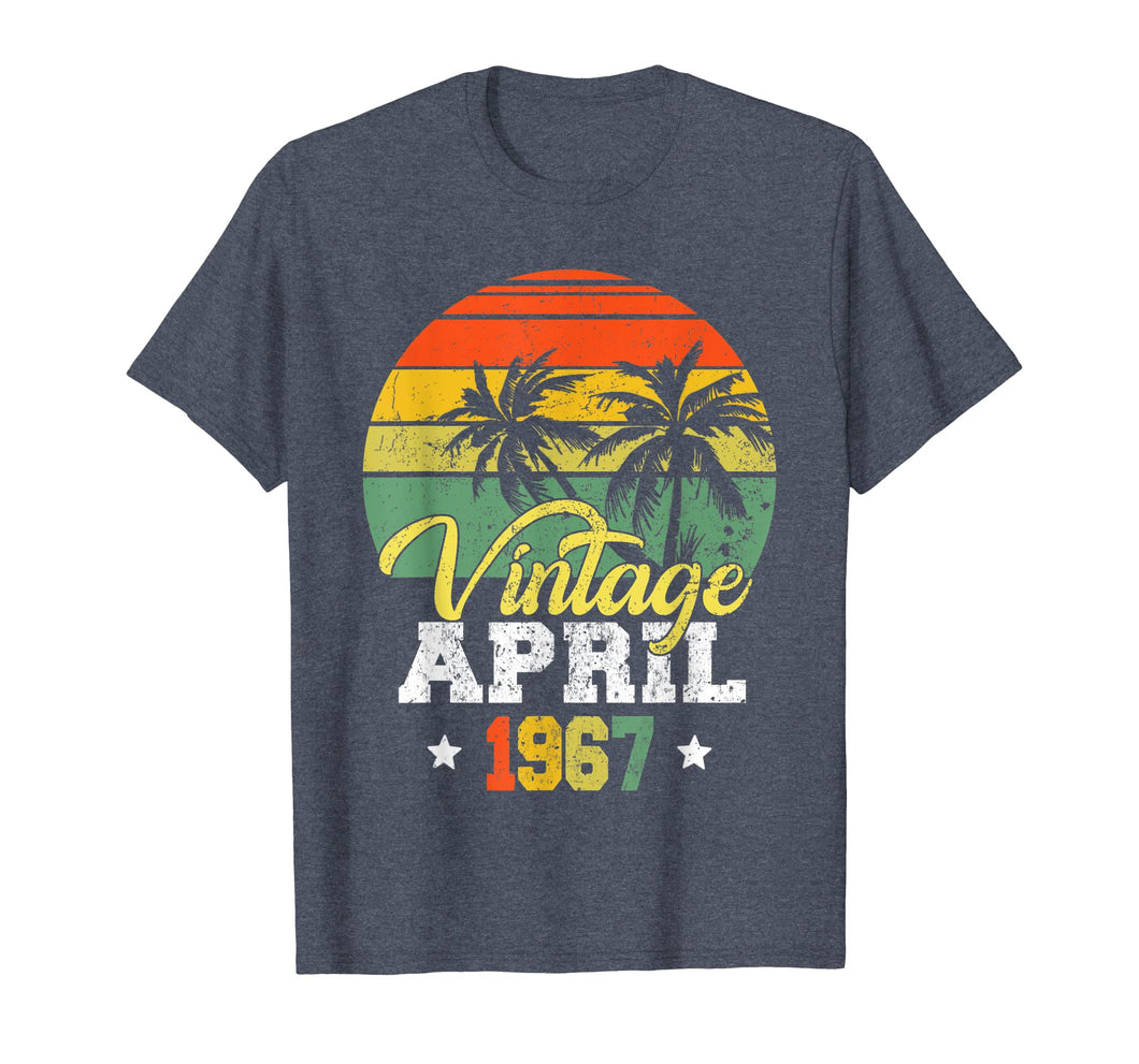 April 1967 T-shirt Retro Vintage 52nd Birthday Decoration