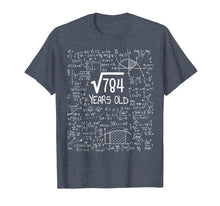 Load image into Gallery viewer, 28th Birthday Gift T-Shirt, Square Root of 784: 28 Years Old