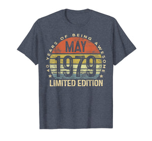 Born May 1979 Limited Edition T-Shirt 40th Birthday Gifts