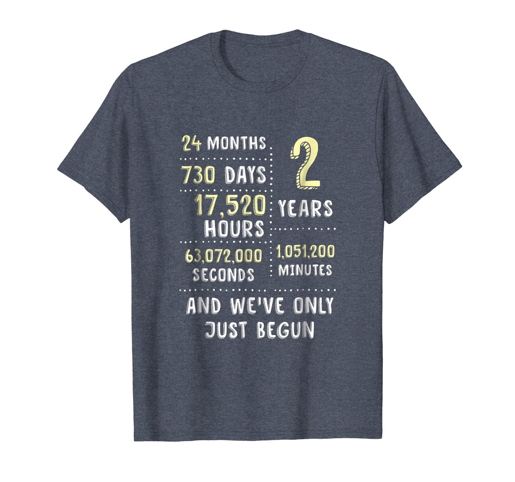 2nd Year Anniversary Apparel Gift T-Shirt for Her or Him