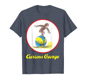 Curious George Having A Ball On The Beach Graphic T-Shirt