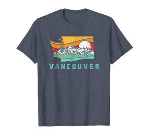 Vancouver Washington Outdoors Retro Mountains T-Shirt
