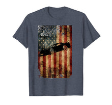 Load image into Gallery viewer, Late Model Dirt Track Racing Shirt Distressed American Flag