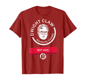 Dwight-Claw-Schrute Farms Beet Juice T-Shirt