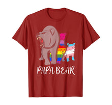 Load image into Gallery viewer, Papa Bear Lgbt Pride Father's Day Gift T-Shirt