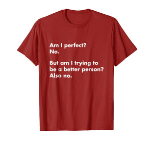 Am I perfect? No. T-Shirt - funny t-shirt