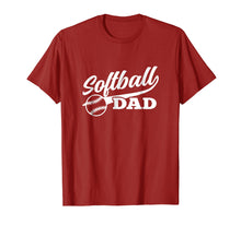 Load image into Gallery viewer, Softball Dad Shirt 1970s Retro Cursive Graphic (Dark)