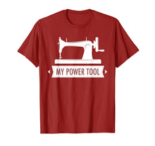 Load image into Gallery viewer, My Power Tool Sewing Machine T-shirt in Dark Colors