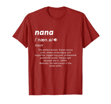 Load image into Gallery viewer, Definition Mama Nana Funny Birthday Mothers Day Gift Shirt
