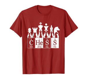 Chess sets periodic table elements t shirt gift for kids men