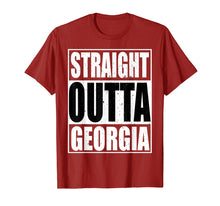 Load image into Gallery viewer, Cool Straight Outta Georgia Novelty T-shirt