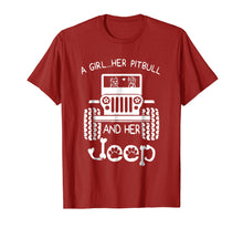 Load image into Gallery viewer, A girl Her Pitbull and her Jeep T shirt Jeep Girl Gift